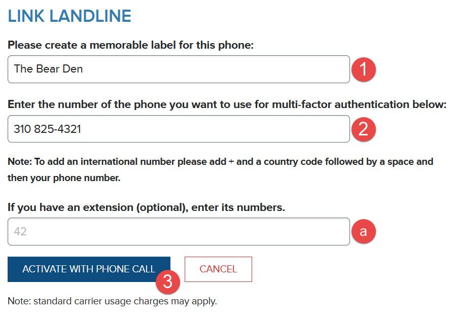 Activate with Phone Call