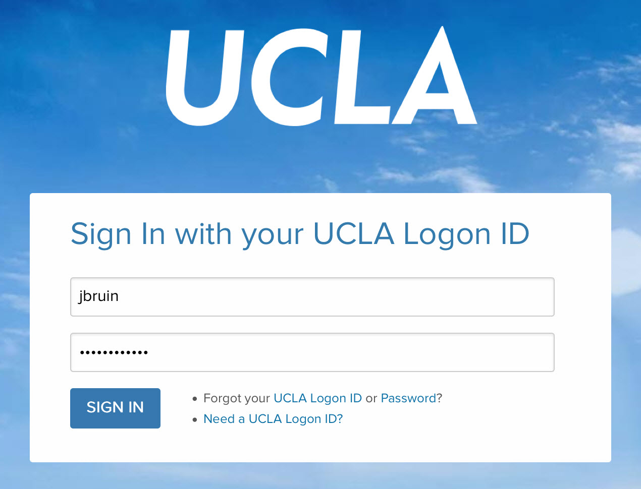 Log in with UCLA Logon ID and password