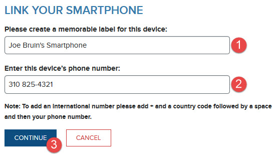 Smartphone Label and Phone Number